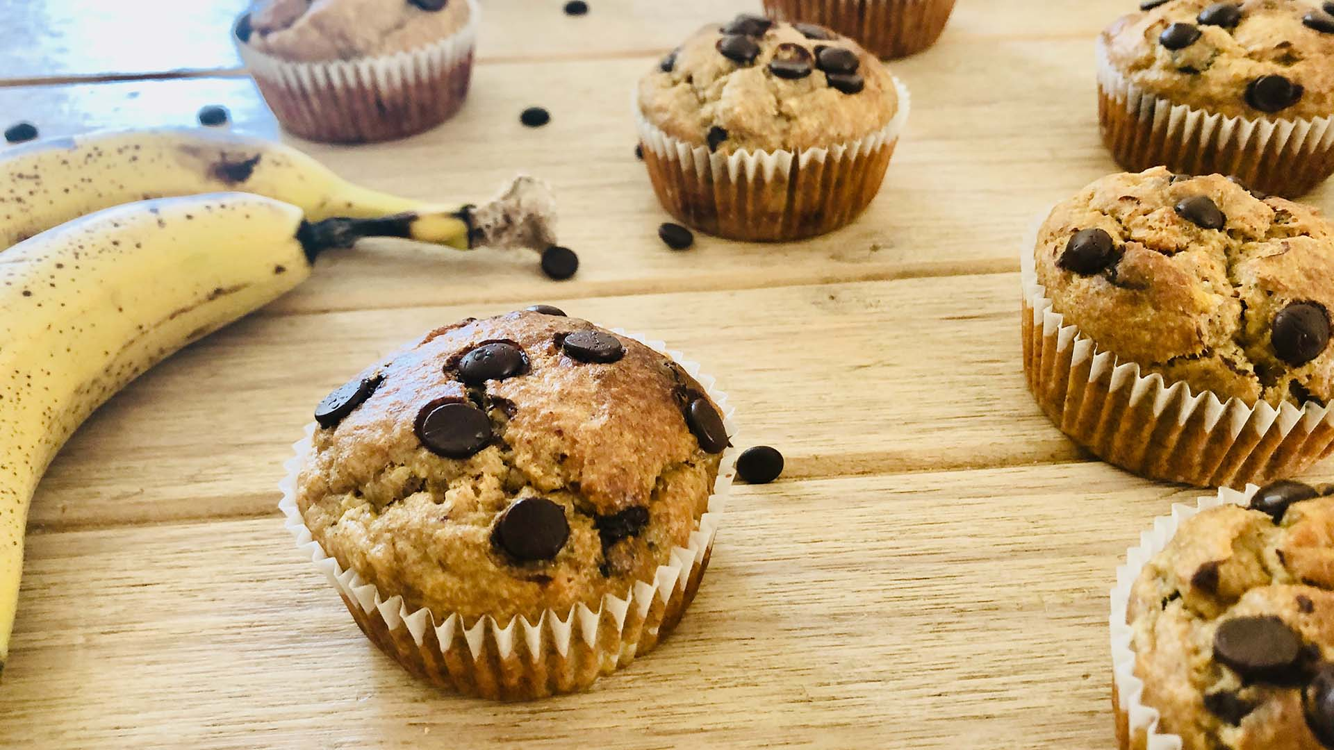 Healthy Banana Peanut Butter Muffins